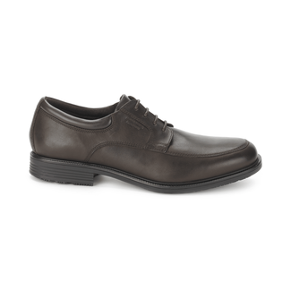 Essential Details Waterproof Apron Toe - Men's Dark Brown Oxfords